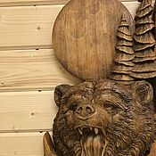 Картины и панно manualidades. Livemaster - hecho a mano Colección lunar (oso). Handmade.