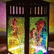 Для дома и интерьера ручной работы. Ярмарка Мастеров - ручная работа Подсвечник фонарь Красавица и чудовище. Handmade.