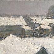 Картины и панно ручной работы. Ярмарка Мастеров - ручная работа Снежные крыши. Handmade.