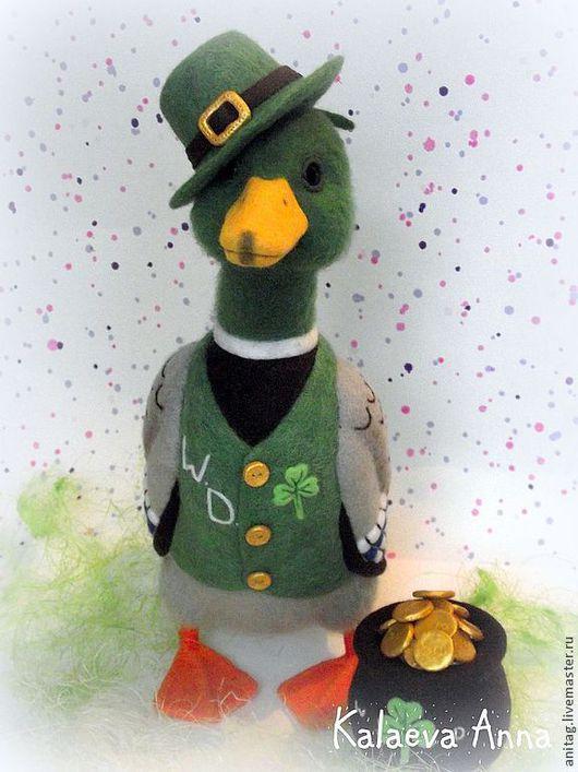 Игрушки животные, ручной работы. Ярмарка Мастеров - ручная работа. Купить Ирландский Cелезень Wild Duck(утка). Handmade. Зеленый