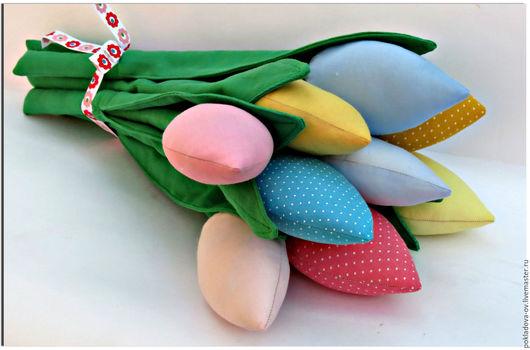 Куклы Тильды ручной работы. Ярмарка Мастеров - ручная работа. Купить Текстильные цветы в стиле Тильда Тюльпаны. Handmade.