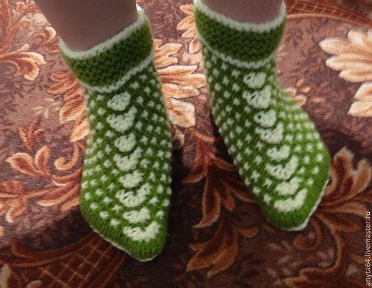 теплые вязаные тапочки ножкам в них тепло и уютно возможно исполнение в любом цвете
