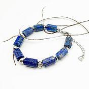 Украшения handmade. Livemaster - original item Bracelet-amulet of natural lapis lazuli (unisex). Handmade.
