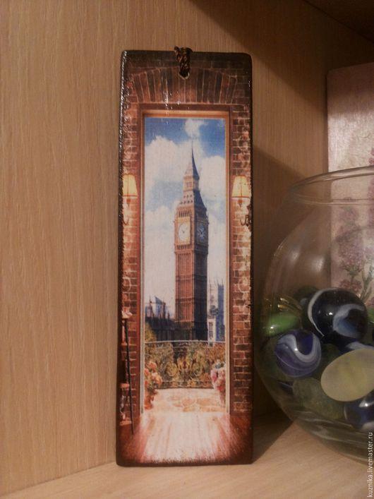 """Закладки для книг ручной работы. Ярмарка Мастеров - ручная работа. Купить Деревянная закладка для книг """"Big Ben"""". Handmade. Коричневый"""