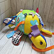 Мягкие игрушки ручной работы. Ярмарка Мастеров - ручная работа Развивающая игрушка Черепаха. Handmade.