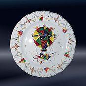 """Посуда ручной работы. Ярмарка Мастеров - ручная работа Тарелка """"Летучий корабль"""". Handmade."""