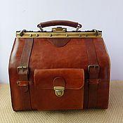 Сумки и аксессуары handmade. Livemaster - original item Available Bag mens leather Cognac Donat. Handmade.