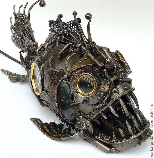 Освещение ручной работы. Ярмарка Мастеров - ручная работа. Купить USS Joker Fish. Handmade. Золотой, подводная лодка, сталь