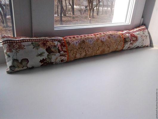 Текстиль, ковры ручной работы. Ярмарка Мастеров - ручная работа. Купить Подушка от сквозняков. Handmade. Комбинированный, подарок, синтепон