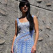 """Одежда ручной работы. Ярмарка Мастеров - ручная работа платье  """"Мелодия прибоя"""". Handmade."""