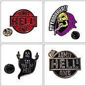 Субкультуры handmade. Livemaster - original item Icons: Admit Hell One, See You In Hell .... Handmade.