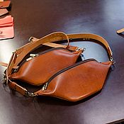 Сумки и аксессуары handmade. Livemaster - original item Bag men`s shoulder leather - Monolit-Bizon. Handmade.