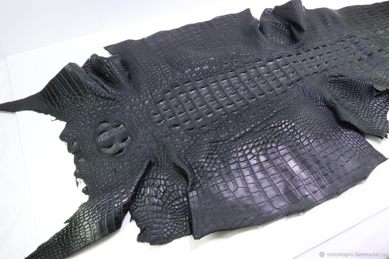 Кожа крокодила, спинная часть, ширина 21 см IMA2014B21, Шитье, Москва, Фото №1