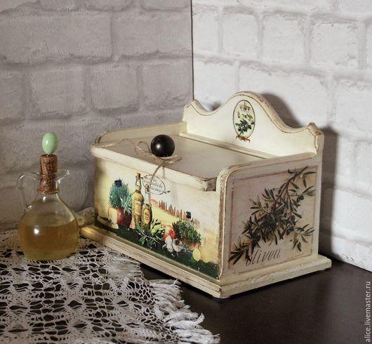 Кухня ручной работы. Ярмарка Мастеров - ручная работа. Купить Хлебница ОЛИВА. Handmade. Белый, кухонная утварь, хлебница из дерева