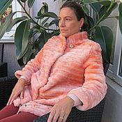 Шубы ручной работы. Ярмарка Мастеров - ручная работа В НАЛИЧИИ 38-42 размер коралл мех мутон класса Люкс, гламурно, шубка. Handmade.