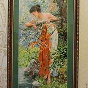 """Вышитая картина Х.Зацки """"Очарование весны""""."""