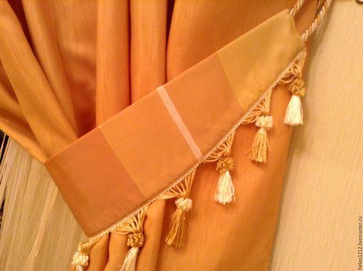 Текстиль, ковры ручной работы. Ярмарка Мастеров - ручная работа. Купить Шторы из тафты Оранжевое настроение. Handmade. Оранжевый