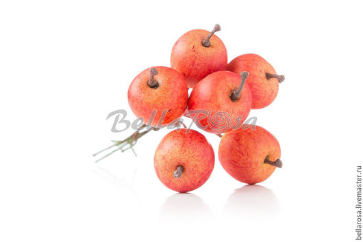 Материалы для флористики ручной работы. Ярмарка Мастеров - ручная работа. Купить Яблоки оранжево - красные, матовые. Handmade. Коралловый, ягоды