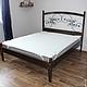 Мебель ручной работы. Двуспальная кровать с кованными элементами. 'Добрые руки' семейная мастерская. Интернет-магазин Ярмарка Мастеров.