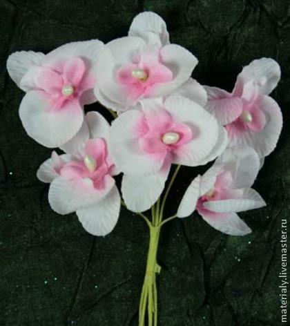 Другие виды рукоделия ручной работы. Ярмарка Мастеров - ручная работа. Купить 6шт Орхидеи 45мм. Handmade. Розовый, орхидеи