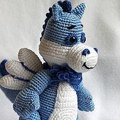 Куклы и игрушки ручной работы. Ярмарка Мастеров - ручная работа Дракоша-голубая мечта. Handmade.