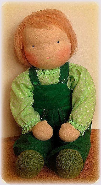 Вальдорфская игрушка ручной работы. Ярмарка Мастеров - ручная работа. Купить Вальдорфская кукла-мальчик 50-52 см. Handmade.