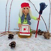 Куклы и игрушки handmade. Livemaster - original item Baba Yaga Doll knitted frame game. Handmade.