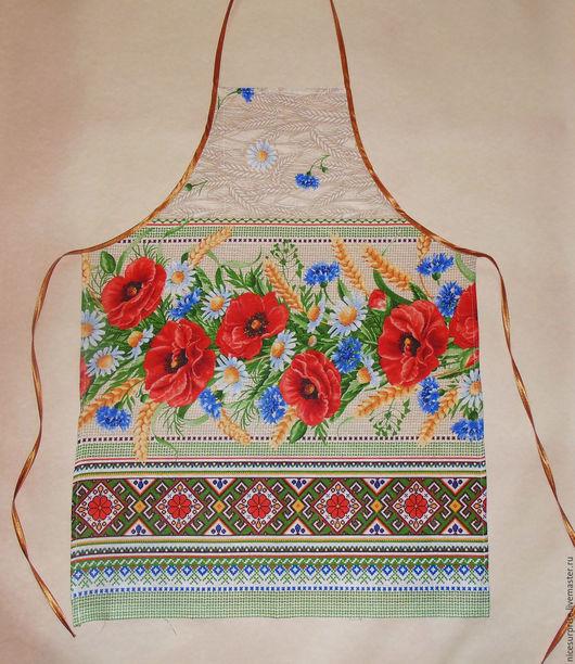 """Кухня ручной работы. Ярмарка Мастеров - ручная работа. Купить Фартук для кухни """" Лето"""". Handmade. Бежевый, цветы, фартук"""