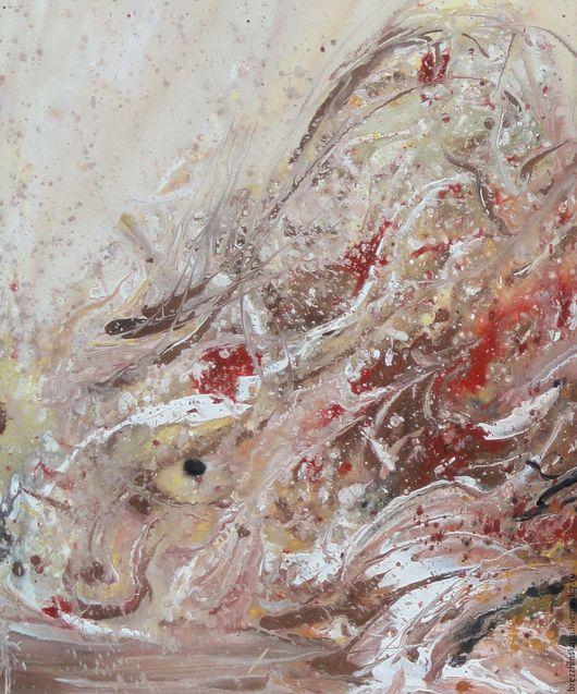 Абстракция ручной работы. Ярмарка Мастеров - ручная работа. Купить Объятья двух стихий. Абстракция.. Handmade. Бежевый, картина