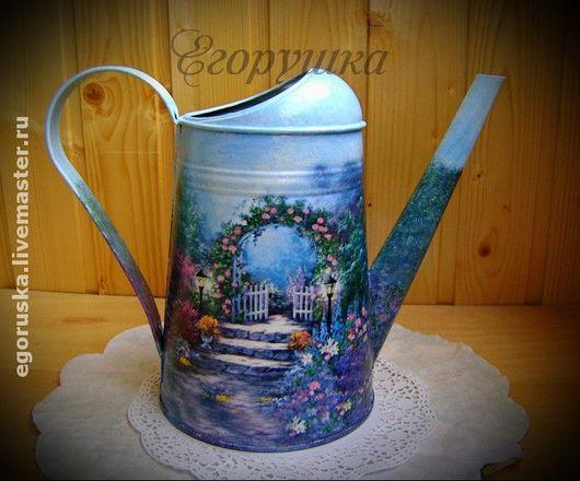 Watering Сans handmade. Livemaster - handmade. Buy Lake 'Gate to the garden'.Lake, original gift, for garden
