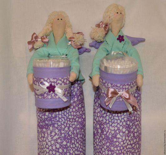 Куклы Тильды ручной работы. Ярмарка Мастеров - ручная работа. Купить Тильда хранительница ватных палочек и дисков. Handmade. Тильда