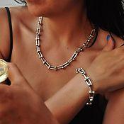 Украшения handmade. Livemaster - original item Tiffany necklace and bracelet, silver plated. Handmade.