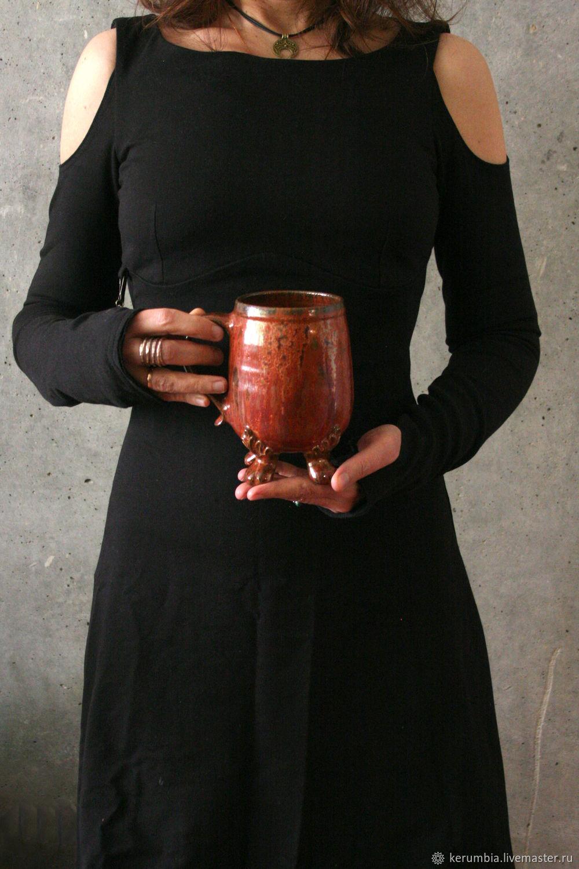 """Чашка на ножках """"Медь"""", Кружки и чашки, Санкт-Петербург,  Фото №1"""