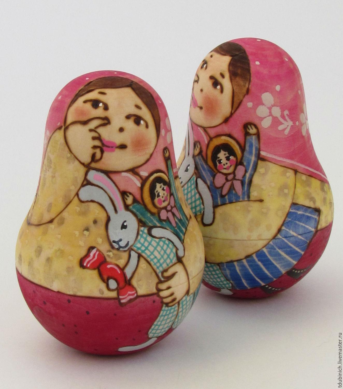 """Неваляшка деревянная """"Малышка"""", подарок, сувенир, игрушка, Народные куклы, Сергиев Посад, Фото №1"""