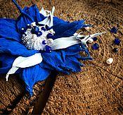 """Украшения ручной работы. Ярмарка Мастеров - ручная работа Брошь """"Роскошный синий"""". Handmade."""