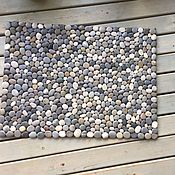 Carpets handmade. Livemaster - original item A Mat of pebbles. Handmade.