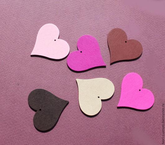 """Для украшений ручной работы. Ярмарка Мастеров - ручная работа. Купить Бирки, Теги, Фигурки деревянные """"Сердце"""". Handmade. love"""