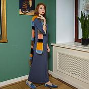 Одежда ручной работы. Ярмарка Мастеров - ручная работа Сизое трикотажное платье. Handmade.