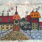 """Картины и панно handmade. Livemaster - original item """"Сказочный город"""" панно в детскую. Handmade."""