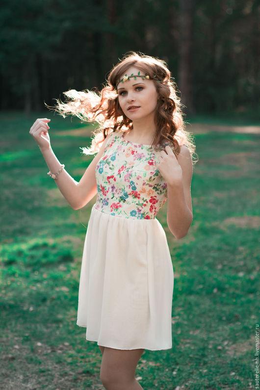 Платья ручной работы. Ярмарка Мастеров - ручная работа. Купить Платье Spring. Handmade. Белый, короткое платье, белый цвет