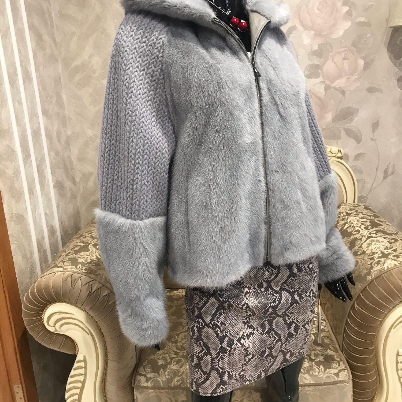 Норковая куртка-бомбер, Шубы, Челябинск,  Фото №1