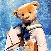 Куклы и игрушки ручной работы. Ярмарка Мастеров - ручная работа Мишка морячок. Handmade.