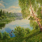 "Картины и панно handmade. Livemaster - original item Oil painting """"Summer Day "",landscape. Handmade."