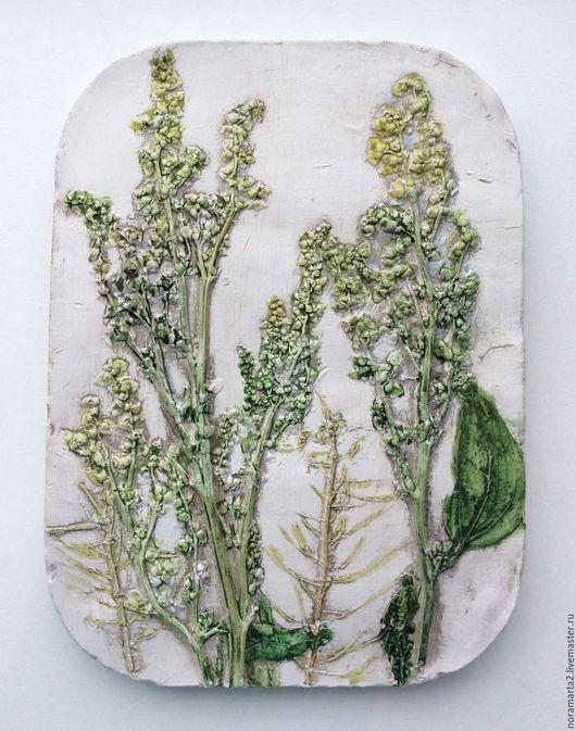 Гипсовые отливки Оттиски растений