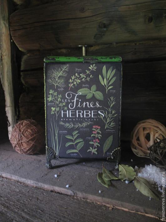 Кухня ручной работы. Ярмарка Мастеров - ручная работа. Купить Fines Herbes-Короб для специй. Handmade. Разноцветный, трава