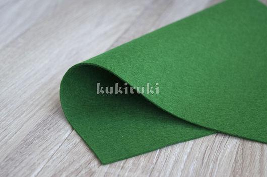Валяние ручной работы. Ярмарка Мастеров - ручная работа. Купить Зеленый полушерстяной фетр. Handmade. Фетр, фетр листовой