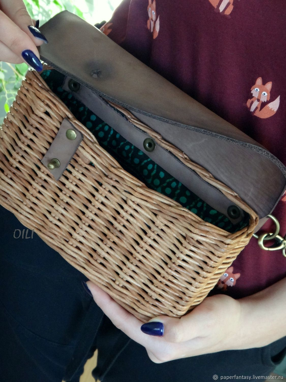 Сумочка плетеная на пояс