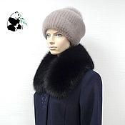 Аксессуары handmade. Livemaster - original item Fur detachable collar of Fox fur. Black. TK-470. Handmade.