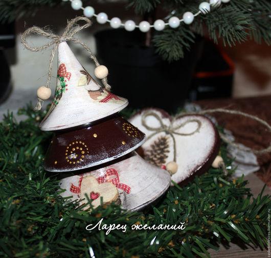 Новый год 2017 ручной работы. Ярмарка Мастеров - ручная работа. Купить Новогодняя игрушка елка-неваляшка из коллекции Sweet holiday. Handmade.