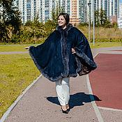 Одежда handmade. Livemaster - original item Poncho with fur trim, art. 2223. Handmade.